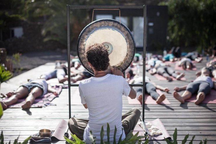 Baño de Gong, terapia de sonido